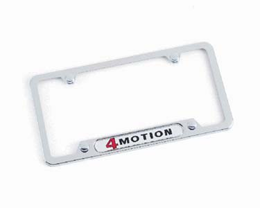 2011 Volkswagen CC `4motion` license plate frame - Highly  ZVW-355-014