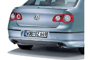 2009 Volkswagen Passat Rear valance - Dual exhaust 4motion - painted