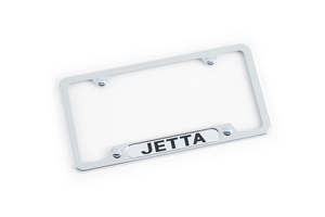2006 Volkswagen Jetta Polished License Plate Frame - Jetta ZVW-355-011